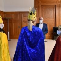 Staatskanzleichef Oliver Schenk freute sich über den Besuch der Drei Könige. © Michael Baudisch