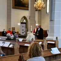 Im Dialog: Landesbischof Bilz und Bischof Timmerevers sprachen während der Predigt abwechselnd.
