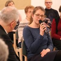 Juliane Eckstein brachte ihre Erfahrungen vom Katholisch-Theologischen Fakultätentag ein. © Andreas Golinski