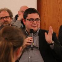 Matthias Demmich, Jugendseelsorger des Dekanats Meißen, berichtete von seinen Erfahrungen. © Andreas Golinski