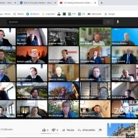 Rege Beteiligung: Screenshot der Zoom-Konferenz.