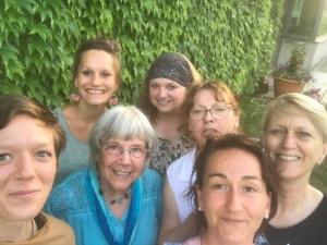Ehrenamtliche Mitarbeiterinnen der des SET-FREE e. V. in Dresden